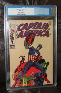 Captain America #111 CGC 8.5 Old Label Death of Steve Rogers Steranko Cover A