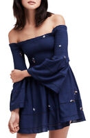 Free People Womens Counting Daises OB749557 Dress Navigate Navy Blue Size XS
