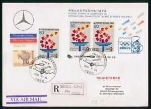 Mayfairstamps Korea 1988 Olymphilex Souvenir Sheet Registered cover wwp1141