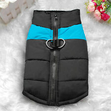 New Waterproof Pet Dog Clothes Autumn Winter Warm Padded Coat Vest Jacket Large