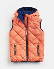 Joules Girls Lovell Quilted Gilet  - Pink - 2Yr