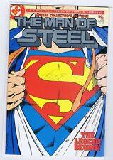 MAN OF STEEL 1 8.0  SIGNED BY JOHN BYRNE NICE PAGES NICE GLOSS  JJ