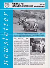 NATIONAL MOTOR MUSEUM FRIENDS Newsletters 1994; Austin 7, Harley Dav mint SCARCE