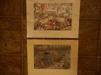 "Village Chemist 2 Anton Pieck Prints Donald Art Co pre-owned 9"" x 12"" unframed"