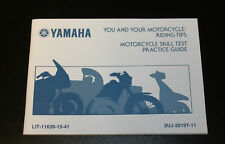 Yamaha riding tips motorcycle skill test practice guide LIT-11626-15-41