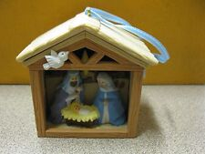 """Lighted Nativity Christmas Ornament 2-3/4"""" Tall FREE SHIPPING Box #CH-25"""