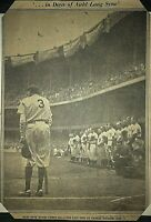 Babe Ruth's Last Game Newspaper Clipping and Two Game Photos