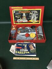 "Vintage GILBERT ERECTOR SET FERRIS WHEEL w Metal Case / Building Toy 8 1/2"""