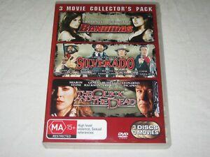 Bandidas + Silverado + The Quick And The Dead - 3 Disc - VGC - Region 4 - DVD