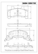 Disc Brake Pad Set-SEMI METALLIC PADS Front Dash 4 Brake MD289