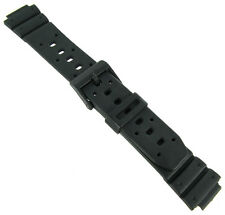 14mm Speidel Express Rubber Black Sport Fits Casio Ladies Watch Band 783 OR 5604