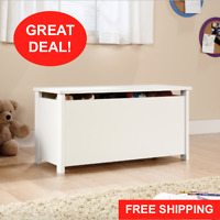 White Toy Storage Box Chest Bin Large Organizer Kids Bedroom Furniture Playroom