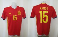 Spain team #15 Ramos 2016/2017 Home Size L Adidas shirt jersey maillot football