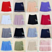 Women Girl JK Sailor Mini Skirt School Uniform Pleated Skirt Cosplay Short Dress