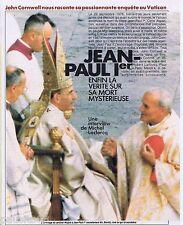 COUPURE DE PRESSE CLIPPING 1989 Jean-Paul 1er    (6 pages)