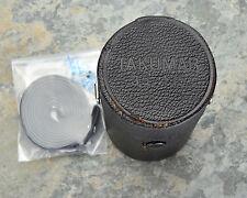 Genuine Asahi Pentax Takumar 3.5/135 135mm f3.5 Leather Lens Case w/Strap (#925)