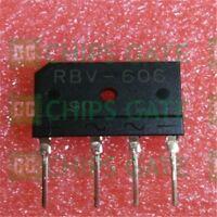 8PCS RBV-606 Encapsulation:ZIP-4,600V,Bridge Diodes600V,