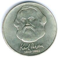 """DDR 20 Mark 1983 A. """"Karl Marx"""" Jaeger 1592, winz. feine kl. Kratzer, vz+"""