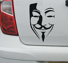 V for Vendetta Anonymous guy fawkes mask vinyl decal #1 - Larger sizes