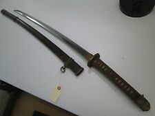 WWII KOTO BLADE OLD JAPANESE SAMURAI KATANA SWORD WITH SCABBARD UNSIGNED #C15