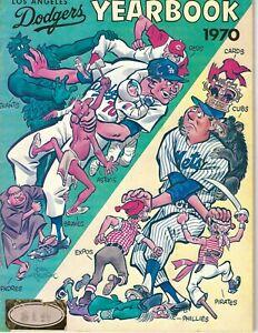 1970 Los Angeles Dodgers yearbook magazine Don Sutton Walt Alston VG sticker