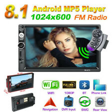 "7"" 2 Din Android 8.1 Quad-Core GPS Navs Head Unit Car BT MP5 Player Stereo Radio"
