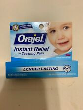Orajel Instant Relief For Teething Pain Longer Lasting Cherry Flavored Exp 8/19