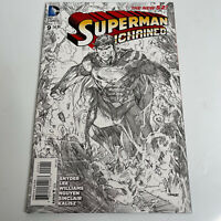 SUPERMAN UNCHAINED #9 SKETCH VARIANT 1:300 JIM LEE DC COMICS 2015 NM-