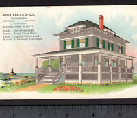 Victorian Beach House Paint Lighthouse John Lucas Stain Advertising Trade Card