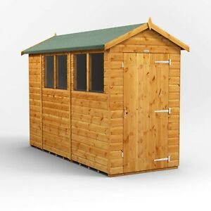 10x4 Power Apex Garden Shed | Power Sheds | Wooden | Super Fast 2-3 Day Delivery