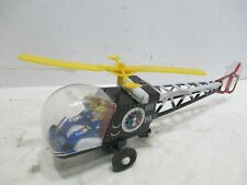 "POLICE PATROL HELICOPTER FRICTION 10"" LONG WORKS GOOD MADE IN JAPAN tin body"