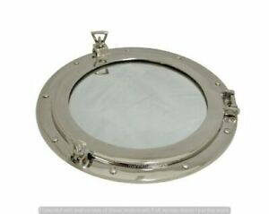 Aluminum Chrome Finish Porthole Mirror 17 Nautical Wall Porthole