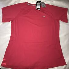 New Under Armour Sunblock Short Sleeve Active Shirt Ladies XL Pink MSRP $50.00