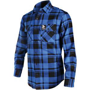 Throttle Threads Flannel Shirt (Blue / Black) M