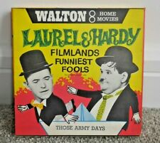 LAUREL & HARDY IN THOSE ARMY DAYS 8mm HOME FILM REEL WALTON RARE  H657