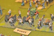 25mm ACW / confederate - 3 guns & crews - art (40055)