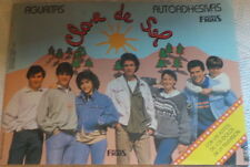 clave de sol  empty album + 15 envelopes stickers from argentina 1990