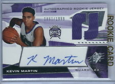 2004-05 SPx Basketball Kevin Martin Autographed Kings Jersey RC #1861/1999