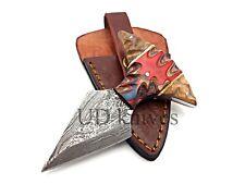 UD CUSTOM HANDMADE 1095 DAMASCUS STEEL  FULL TANG HUNTING KNIFE 467
