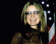 Gloria Steinem Hand Signed Autograph 8x10 Photo  Feminist  Women's Lib  Ms. Mag
