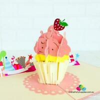 Handmade Large Cupcake 3D Pop Up Birthday Card