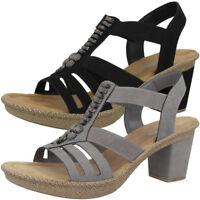 Rieker Women Absatz Sandalen Damen Antistress Schuhe Sandaletten Pumps 66506