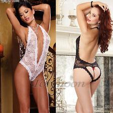 Women Sexy/Sissy Lingerie Babydoll..Teddy Lace Thong Underwear Nightwear