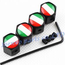 Anti-theft Black Metal Car Wheel Tyre Tire Stem Air Valve Cap For Italian Style