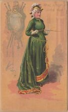 Victorian Trade Card-Ira Perego Men's Clothing-NYC-Violetta & Quotation