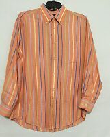ORVIS Mens Shirt Size L Signature Collection Long Sleeve Button Down 100% Cotton