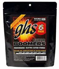 Six Sets of GHS Boomers Electric Guitar Strings GBXL 9-42;  6-pack set