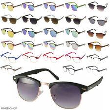 Classic Retro 1980s Sunglasses Men Womens Browline Clear Lens Glasses Horned Rim