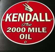 Kendall Oil Gasoline gas sign