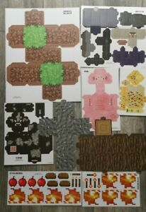 Minecraft Party Favor Goody Bag Boxes Game Room Display Crafting Blocks